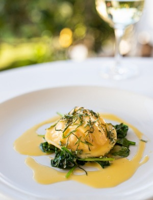 Lobster raviolo, part of the five-course Rick Stein at Bannisters 10th anniversary menu.