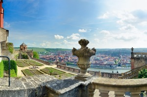 View from Marienburg Fortress in Würzburg .