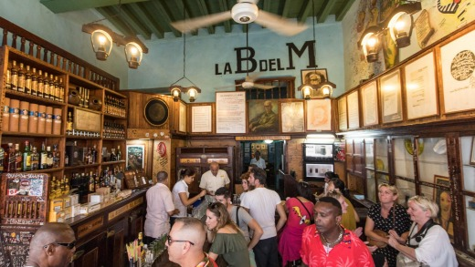 La Bodeguita Del Medio, a famous bar in Old Havana.