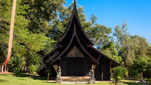 The Black House is an art park created by the late local artist Thawan Duchanee.