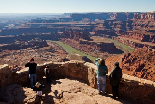 DEAD HORSE POINT STATE PARK : The final scene of Thelma and Louise, when the titular characters hold hands and drive ...