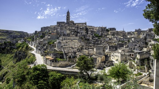 The oldest parts of Matera are troglodyte caves, some of which are thought to have been in use for 8000 years.