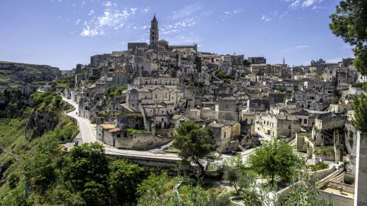 The UNESCO World Heritage-listed village of Matera.