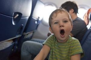 Flying with a toddler is challenging.