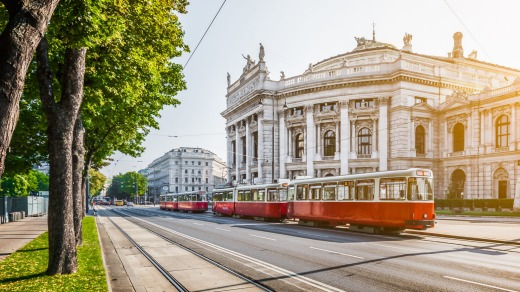 Taking a tram along Vienna's Ringstrasse is a highlight of the city.
