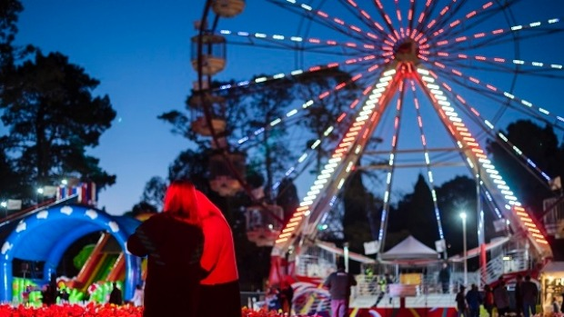 NightFest in full swing at the annual Canberra spring festival, Floriade.