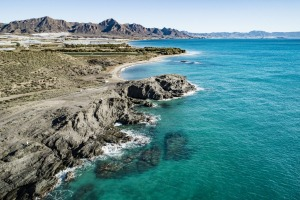 Coast in Mazarron at Percheles beach, Murcia, Spain.