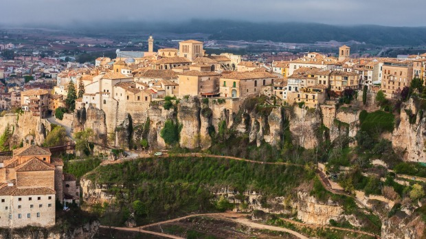 Hanging Houses in the medieval town of Cuenca, in Castilla La Mancha, Spain.