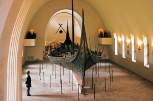 The Oseberg ship at the Oslo Viking Ship Museum.