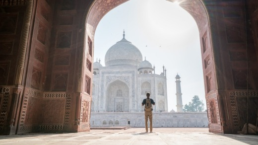 To see the Taj Mahal with the smallest crowds, visit early in the morning during winter.