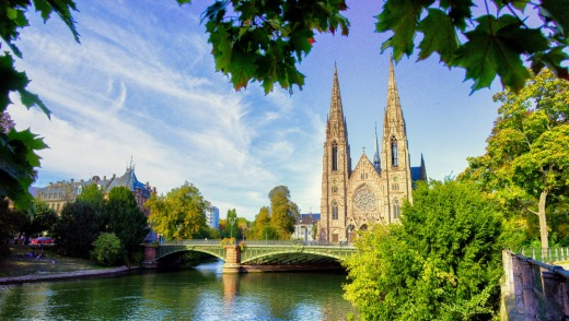 Strasbourg Cathedral River View - France, Travel Europe october SatSept15Cruise - Crystal Bach, Basel to Amsterdam - ...