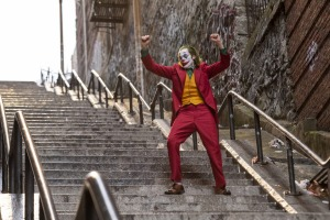 "This image released by Warner Bros. Pictures shows Joaquin Phoenix in a scene from ""Joker,"" in theaters on Oct. 4.  ..."