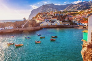 The beautiful fishing village of Camara de Lobos on the portugese Island of Madeira.