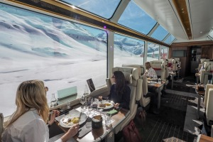 """The Glacier Express is billed as the """"slowest express train in the world"""". It runs between St. Moritz and Zermatt in ..."""