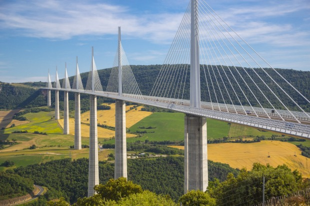 Millau Viaduct: From ancient Roman architecture to modern French, this bridge is the world's tallest at 343m and cost ...
