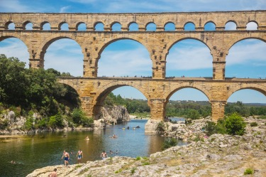 Pont du Gard: An hour from Avignon, this spectacular, three-tiered arched Roman bridge straddles the Gardon river and is ...