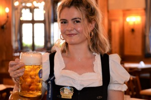"Lisa-Marie Maurus: ""To toast, saying 'Prost' is fine, 'Ein Prosit' is even better."