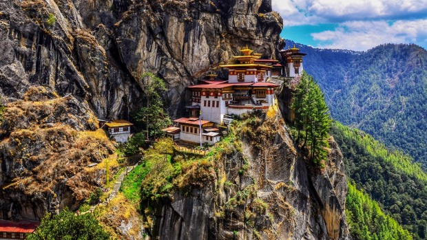 The incredible Taktsang Buddhist monastery, better known as Tiger's Nest.