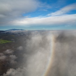 HUALALAI, ISLAND OF HAWAII: The westernmost of the five volcanoes that make up the island of Hawaii, Hualalai is still ...