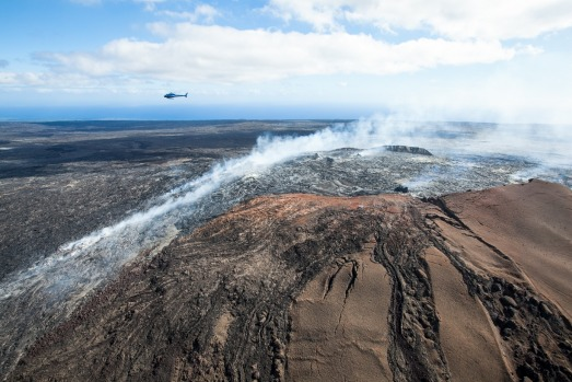 "KILAUEA, ISLAND OF HAWAII: With a name that means ""spewing"" or ""much spreading"", it's easy to see why Kilauea is known ..."