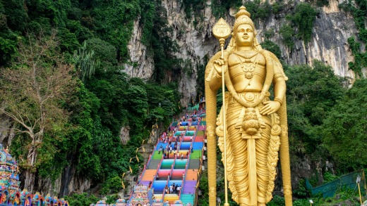 Lord Murugan statue, Batu Caves.