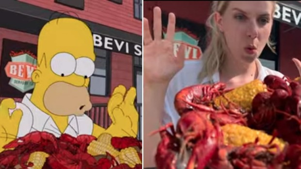 Janine Wiget and Katrin von Niederhausern painstakingly recreated every shot from Homer Simpson's epic New Orleans food ...