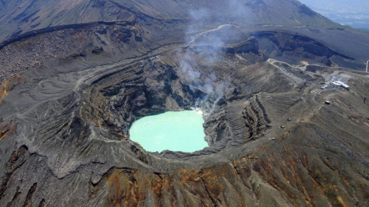 Volcanic crater at Mt Aso.