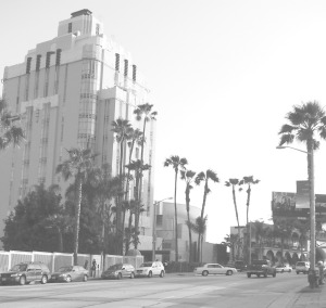 A historic photo of Sunset Tower.