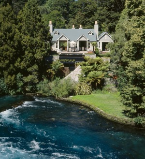 Tucked away and totally private: Huka Lodge.