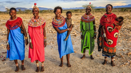 The locals wear wear the most vibrant and colourful clothing possible.