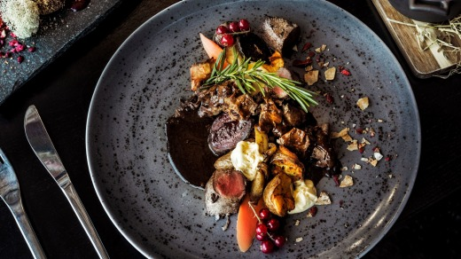 The Arctic Light Hotel's take on reindeer, a meat that features in many Lappish dishes.