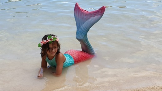 Being a mermaid in Hawaii might not be a holiday activity for everyone.