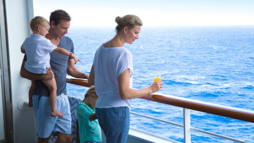 A cruise can take the hassle out of having to lug your family's suitcases around.