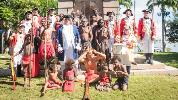 Rock art and re-enactment: 250 years after Captain Cook.