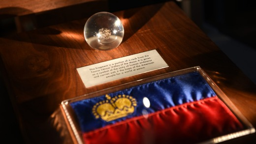 Moon rock in Treasure Chamber, Liechtenstein.