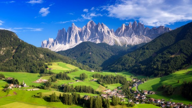 The spectacular Dolomites are found in which country?
