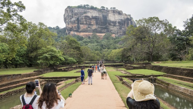 Sigiriya, the ancient rock fortress, monastery and royal palace of a fifth-century king.