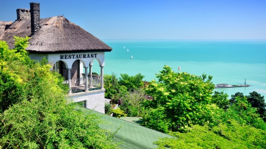 Lake Balaton in Hungary it is the largest lake in Central Europe.