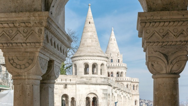 Fishermans Bastion, Buda castle in Budapest.