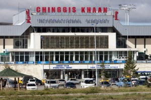 Chinggis Khaan International Airport, in Ulaan Bataar, Mongolia.