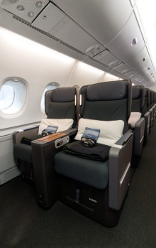 The number of premium economy seats on board has been increased from 35 to 60.