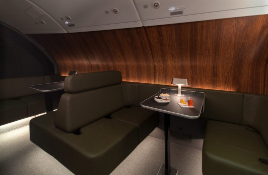 The on-board lounge for first and business class passengers has been expanded to seat 10.