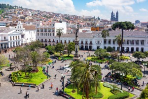 Quito, Ecuador. Tourism is up more than 50 per cent to the country in 2019.