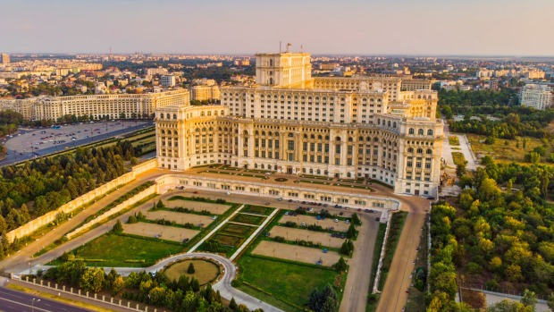 Palace of the Parliament Bucharest, Romania .