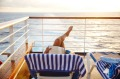 Relax on deck on a  cruise with Princess Cruises.
