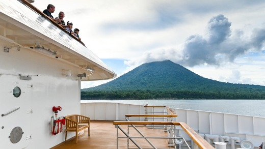 View of Krakatoa from the ship.