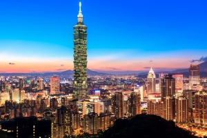 Taipei, Taiwan's capital. The country of 24 million has successfully contained COVID-19 since early in the pandemic.