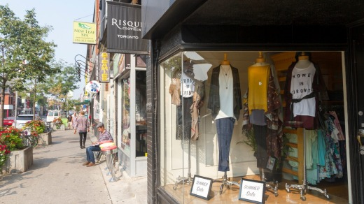 Shopping in Queen West.