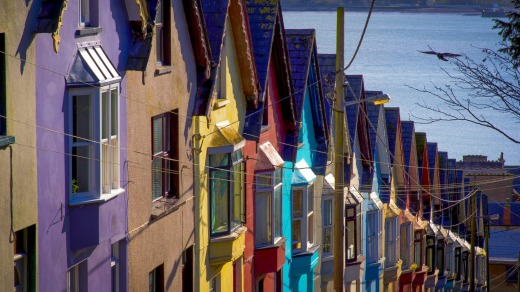 Colourful homes in Cobh.