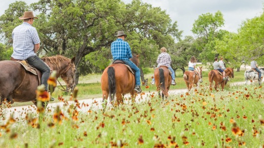 Riding through the Mayan Dude Ranch, Texas